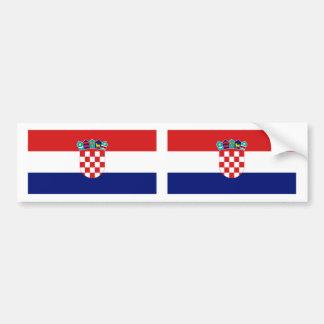 Bandera de Croacia Pegatina Para Auto