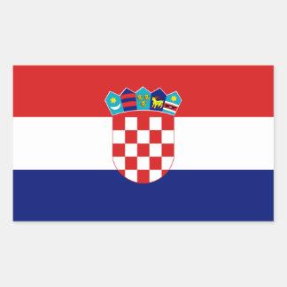 Bandera de Croacia Pegatina Rectangular