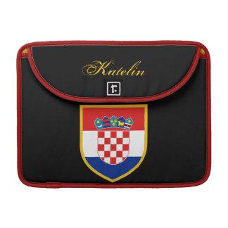 Bandera de Croacia personalizada Funda Macbook Pro