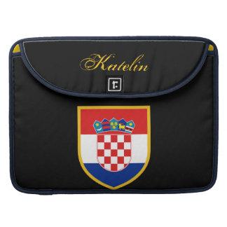 Bandera de Croacia personalizada Funda Para Macbook Pro