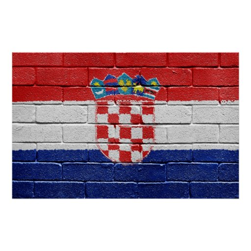 Bandera de Croacia Póster