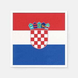 Bandera de Croacia Servilletas De Papel