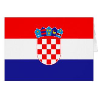 Bandera de Croacia Tarjeta Pequeña