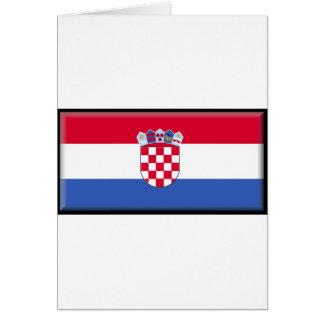 Bandera de Croacia Tarjeta De Felicitación