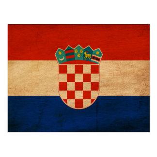 Bandera de Croacia Tarjetas Postales