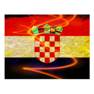 Bandera de Croacia Tarjeta Postal