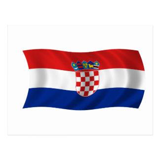 Bandera de Croacia Postales