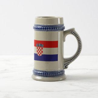 Bandera de Croacia Tazas De Café