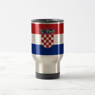 Bandera de Croacia Taza De Viaje De Acero Inoxidable