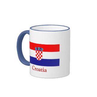 Bandera de Croacia Taza A Dos Colores