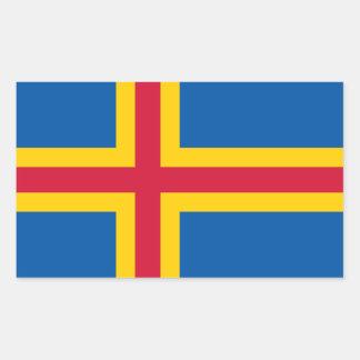Bandera de CUATRO Aland Pegatina Rectangular