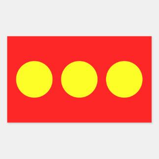 Bandera de CUATRO Freetown Christiania Pegatina Rectangular