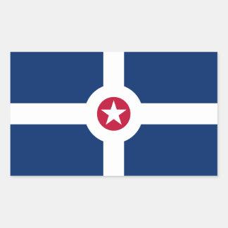 Bandera de CUATRO Indianapolis Pegatina Rectangular