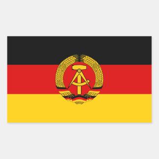 Bandera de CUATRO la Alemania Oriental Pegatina Rectangular