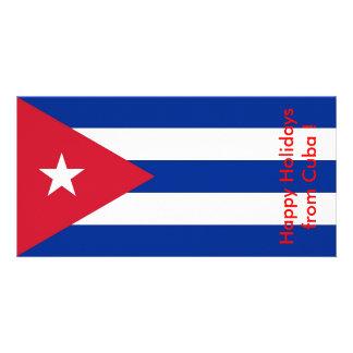 Bandera de Cuba, buenas fiestas de Cuba Tarjetas Fotograficas