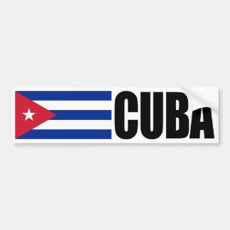 Bandera de Cuba Etiqueta De Parachoque