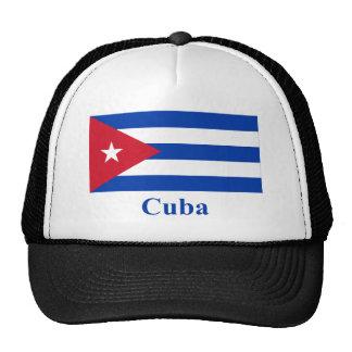 Bandera de Cuba con nombre Gorros
