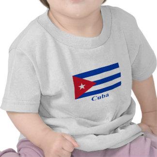 Bandera de Cuba con nombre Camiseta