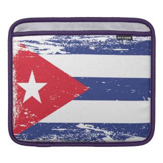 Bandera de Cuba del Grunge Funda Para iPads