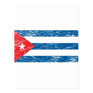 Bandera de Cuba del vintage Postales