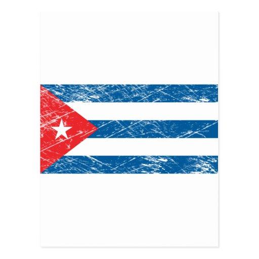 Bandera de Cuba del vintage Tarjetas Postales
