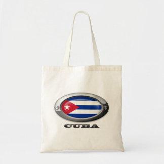 Bandera de Cuba en el marco de acero Bolsa Tela Barata
