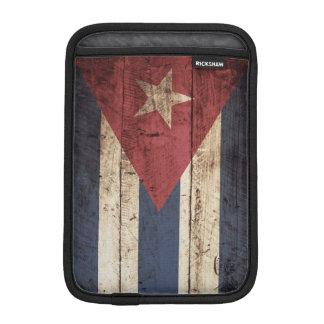Bandera de Cuba en grano de madera viejo Funda iPad Mini