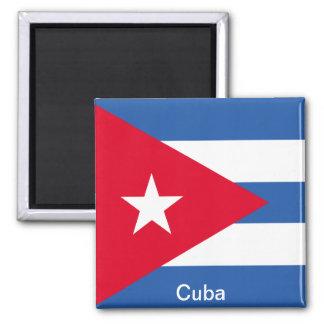 Bandera de Cuba Imán Cuadrado