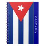 Bandera de Cuba Libretas Espirales