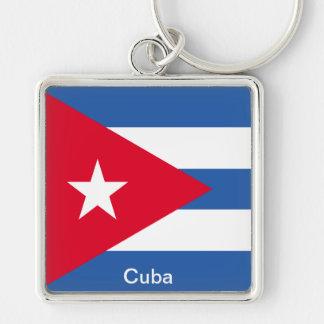Bandera de Cuba Llavero Personalizado