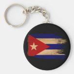 Bandera de Cuba Llavero Redondo Tipo Pin