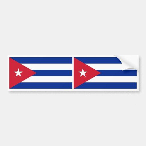 Bandera de Cuba Pegatina Para Coche