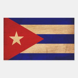 Bandera de Cuba Pegatina Rectangular