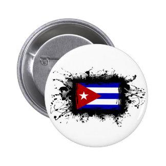 Bandera de Cuba Pin Redondo De 2 Pulgadas