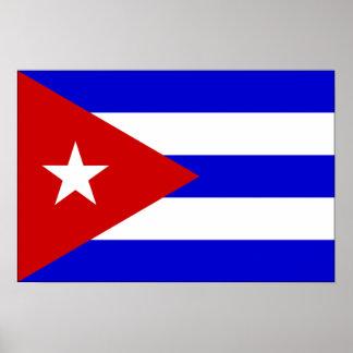 Bandera de Cuba Póster