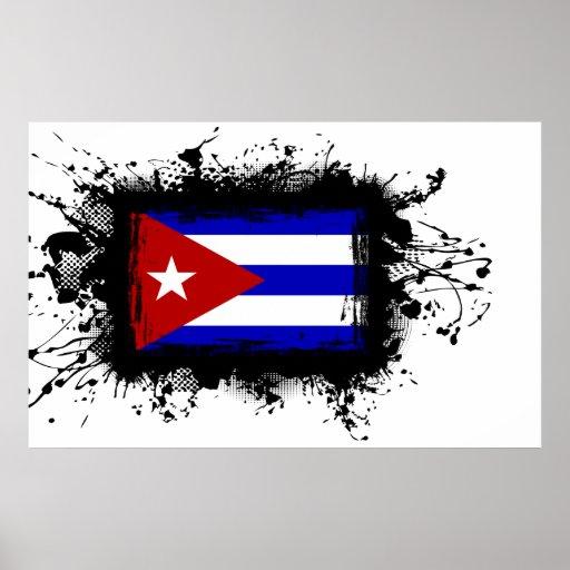 Bandera de Cuba Posters