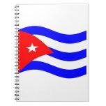 Bandera de Cuba que agita Libreta Espiral