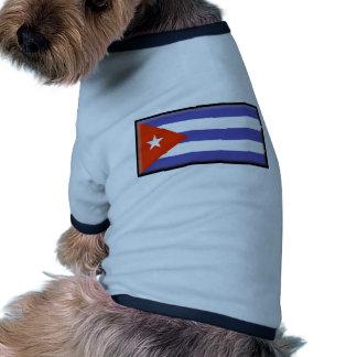 Bandera de Cuba Camisas De Mascota