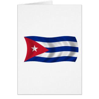 Bandera de Cuba Tarjeton
