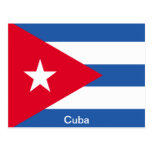 Bandera de Cuba Tarjeta Postal