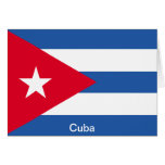 Bandera de Cuba Tarjetas