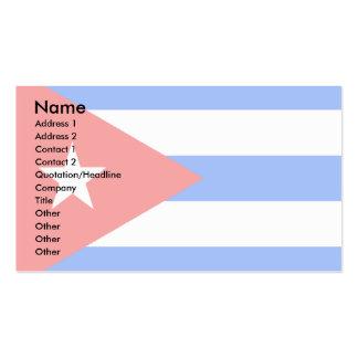 Bandera de Cuba Tarjetas De Visita