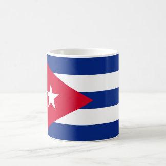 Bandera de Cuba Taza Básica Blanca
