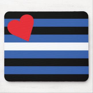 Bandera de cuero (tradicional) mouse pad