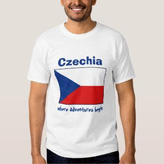 Bandera de Czechia + Mapa + Camiseta del texto Camisas