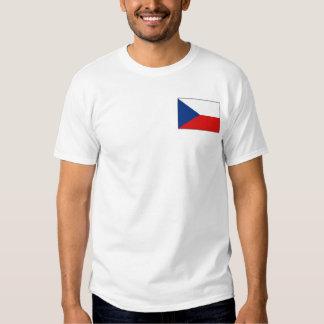 Bandera de Czechia y camiseta del mapa Playeras