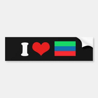 Bandera de Daguestán Pegatina Para Auto