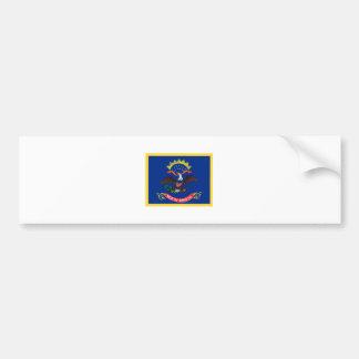 Bandera de Dakota del Norte del borde del oro Pegatina Para Auto
