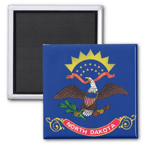 Bandera de Dakota del Norte Imanes Para Frigoríficos
