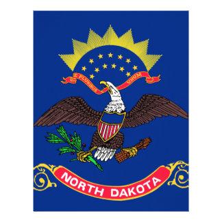 Bandera de Dakota del Norte Membrete
